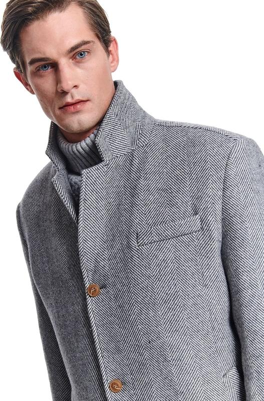 Brązowy płaszcz męski Top Secret