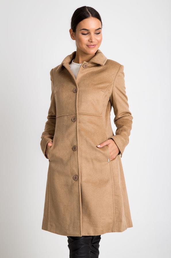 Brązowy płaszcz QUIOSQUE w stylu casual