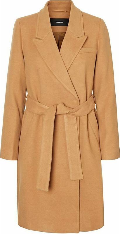 Brązowy płaszcz Vero Moda w stylu casual