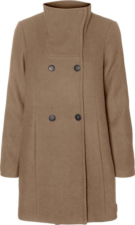 Brązowy płaszcz Vero Moda z wełny