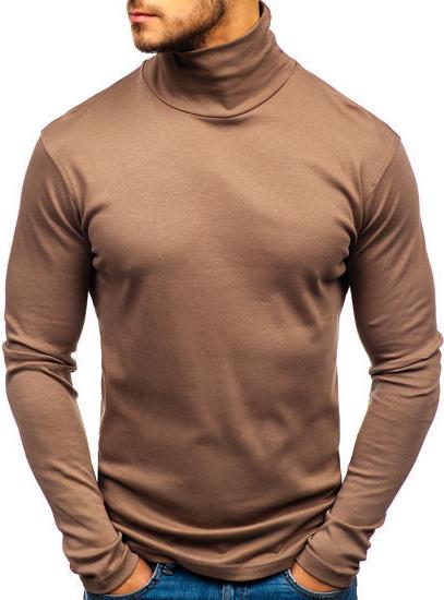 Brązowy sweter Denley z bawełny