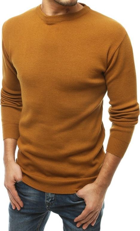 Brązowy sweter Dstreet z wełny w stylu casual