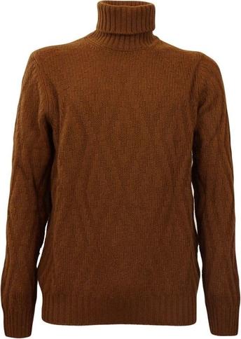 Brązowy sweter Gran Sasso w stylu casual z wełny