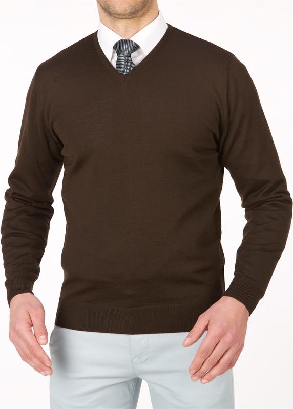 Brązowy sweter Lanieri z wełny w stylu casual