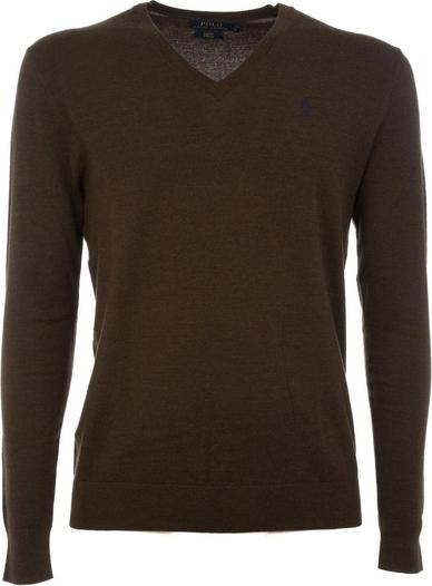Brązowy sweter POLO RALPH LAUREN z wełny