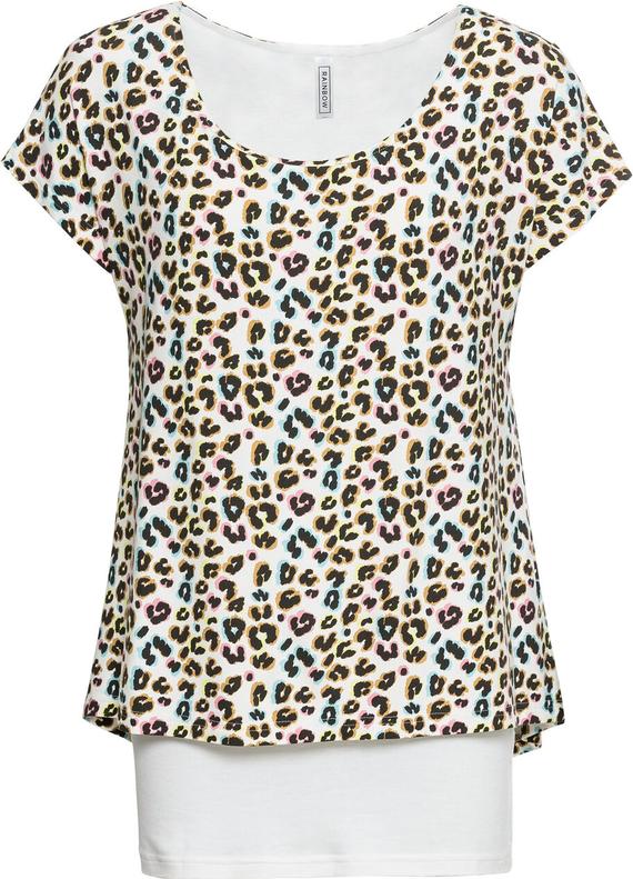wylot Brązowy t-shirt bonprix RAINBOW z krÓtkim rękawem Odzież Damskie Topy i koszulki damskie LC HSFOLC-8