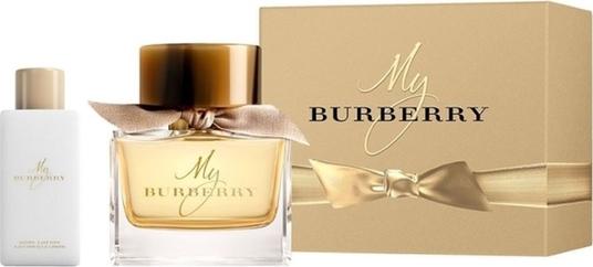 Burberry, My Burberry, zestaw: woda perfumowana, spray, 90 ml + balsam do ciała, 75 ml