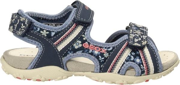 Buty dziecięce letnie Geox w kwiatki na rzepy