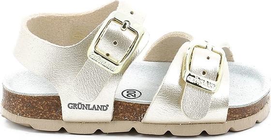 Buty dziecięce letnie Grünland na rzepy ze skóry