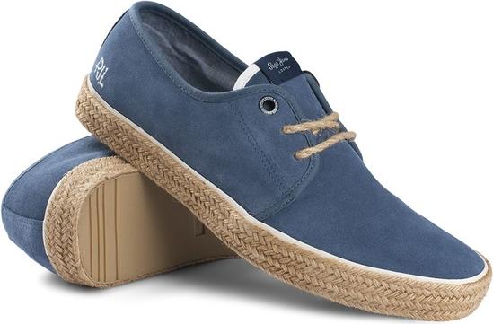 Buty letnie męskie Pepe Jeans w stylu casual z zamszu sznurowane