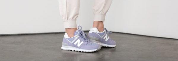 Buty New Balance sznurowane w sportowym stylu z płaską podeszwą