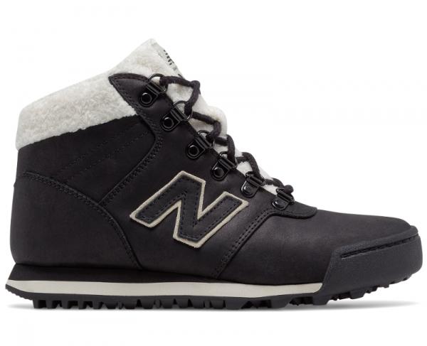Buty New Balance z płaską podeszwą sznurowane ze skóry