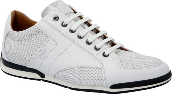 Buty sportowe Boss ze skóry sznurowane