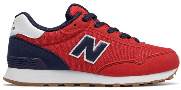 Buty sportowe dziecięce New Balance sznurowane z zamszu