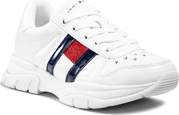 Buty sportowe dziecięce Tommy Hilfiger sznurowane