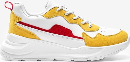 Buty sportowe Gemre.com.pl w sportowym stylu z płaską podeszwą sznurowane