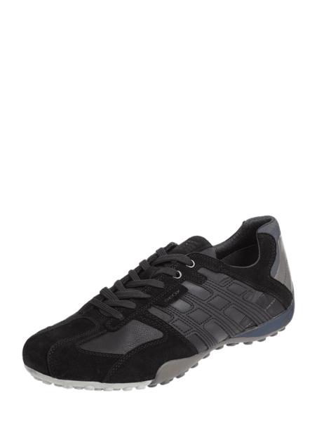 Buty sportowe Geox z weluru sznurowane
