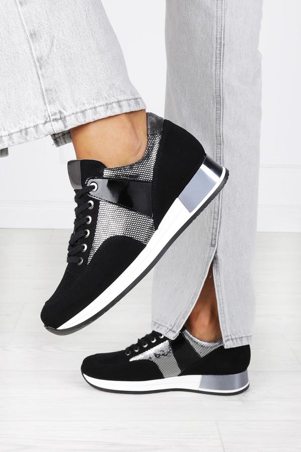 Buty sportowe Kati sznurowane ze skóry
