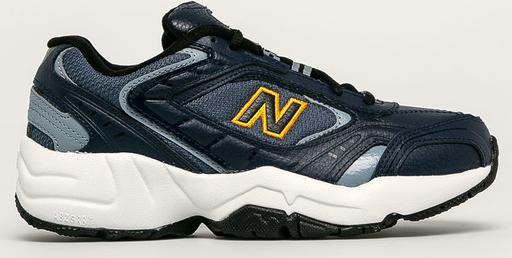Buty sportowe New Balance na platformie ze skóry