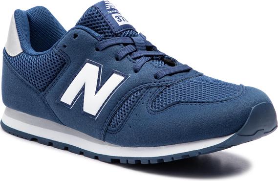 Buty sportowe New Balance sznurowane ze skóry ekologicznej w sportowym stylu