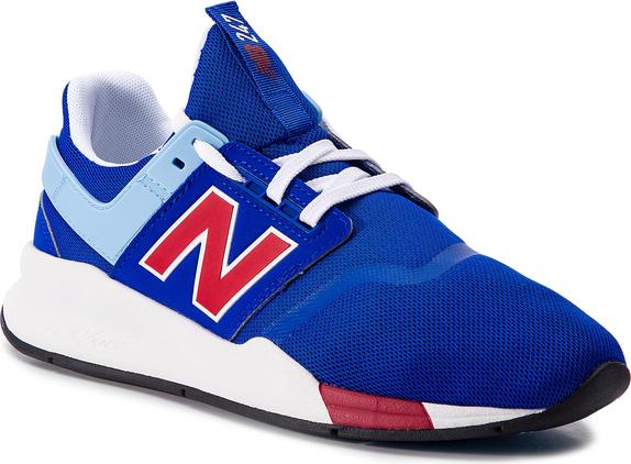 Buty sportowe New Balance w młodzieżowym stylu ze skóry ekologicznej