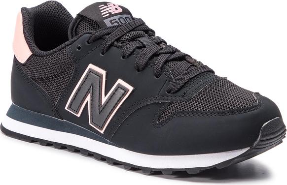 Buty sportowe New Balance z płaską podeszwą ze skóry ekologicznej w sportowym stylu