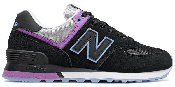 Buty sportowe New Balance z płaską podeszwą ze skóry sznurowane