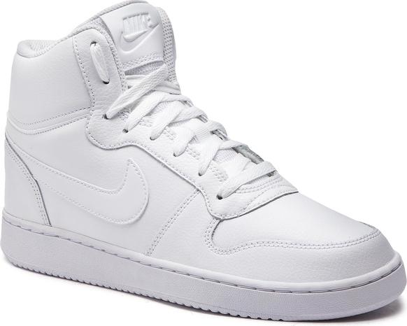 Buty sportowe Nike ze skóry w sportowym stylu sznurowane
