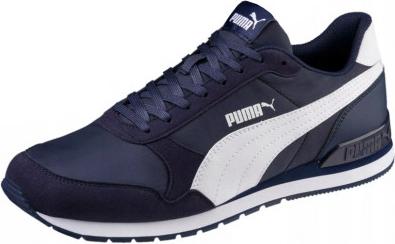 Buty sportowe Puma sznurowane w sportowym stylu ze skóry ekologicznej