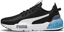 Buty sportowe Puma z płaską podeszwą z zamszu z nadrukiem
