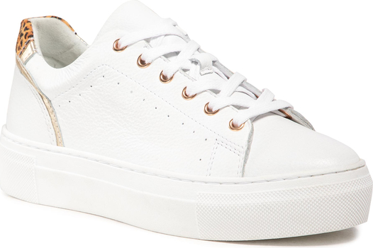Buty sportowe Quazi na platformie w sportowym stylu ze skóry