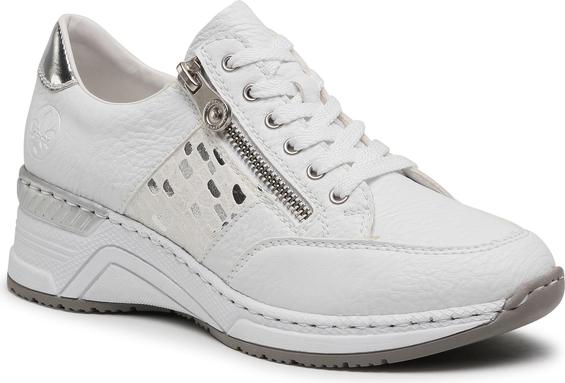 Buty sportowe Rieker ze skóry ekologicznej sznurowane