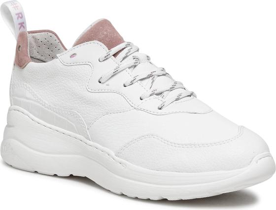 Buty sportowe Ryłko ze skóry ekologicznej sznurowane z płaską podeszwą