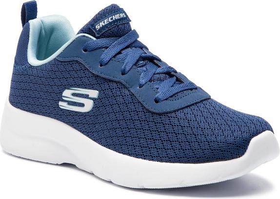 Buty sportowe Skechers z płaską podeszwą sznurowane w sportowym stylu