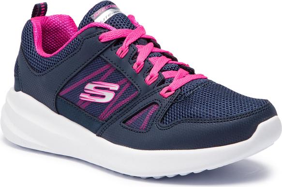 Buty sportowe Skechers ze skóry ekologicznej sznurowane