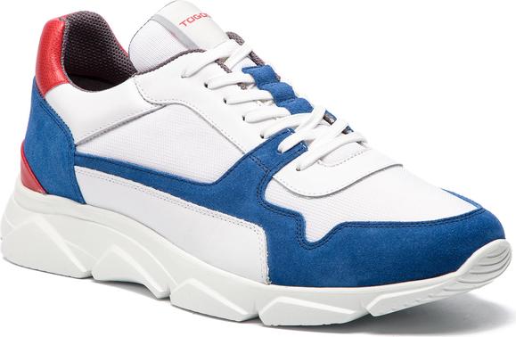Buty sportowe Togoshi w młodzieżowym stylu z zamszu sznurowane