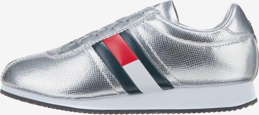 Buty sportowe Tommy Hilfiger w młodzieżowym stylu z płaską podeszwą
