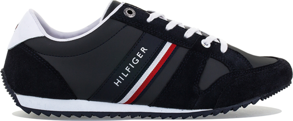 Buty sportowe Tommy Hilfiger ze skóry w młodzieżowym stylu sznurowane