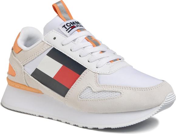 Buty sportowe Tommy Jeans z zamszu sznurowane