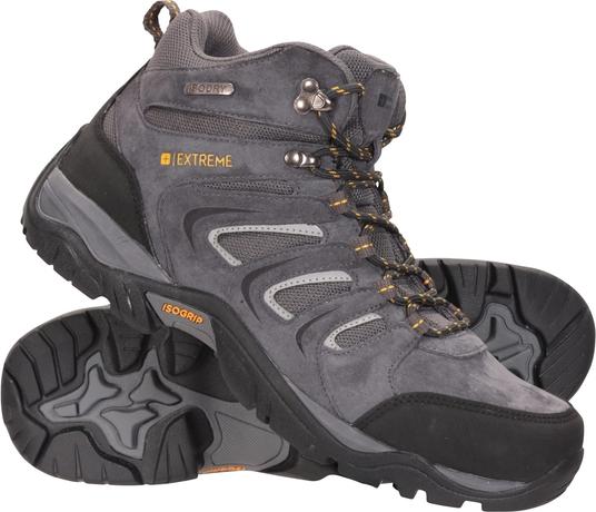 Buty trekkingowe Mountain Warehouse sznurowane z zamszu