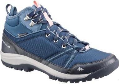 Niebieskie buty trekkingowe Quechua sznurowane z płaską podeszwą Buty Damskie Buty trekkingowe XZ BOVOXZ-4 70% ZNIŻKI