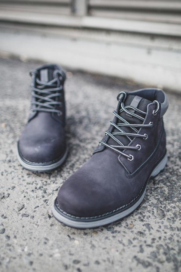 Buty zimowe Big Star sznurowane w stylu casual ze skóry
