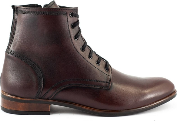 Buty zimowe Kent sznurowane ze skóry