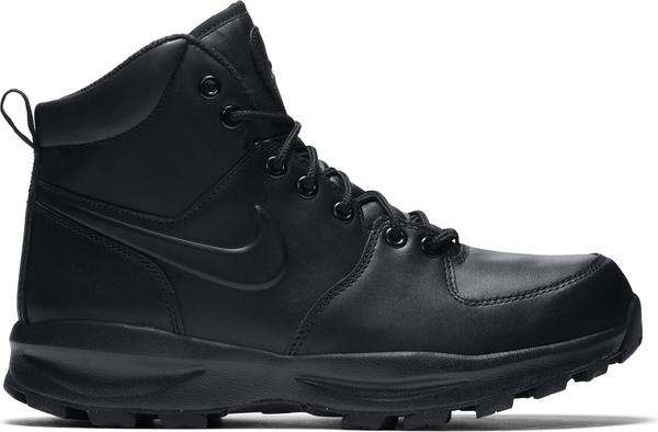 Buty zimowe Nike sznurowane w sportowym stylu ze skóry