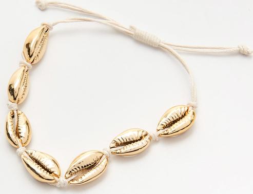Cropp - Bransoletka z muszelkami - Złoty