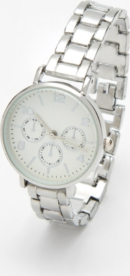 Cropp - Srebrny zegarek - Srebrny