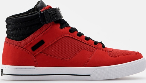 Cropp - Wysokie sneakersy - Czerwony