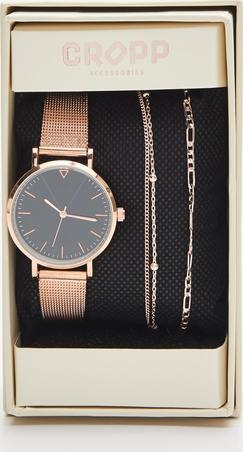 Cropp - Zestaw: zegarek i bransoletki - Złoty