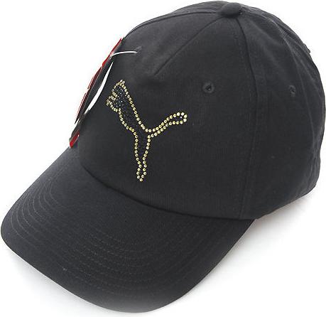 Czarna czapka Puma w młodzieżowym stylu Akcesoria Damskie