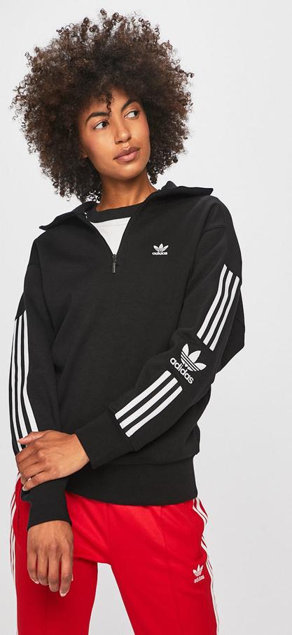 fabrycznie autentyczne szczegóły jak kupić Czarna bluza Adidas Originals z dzianiny krótka